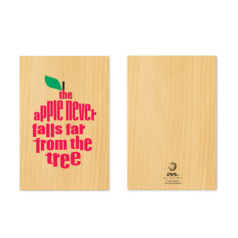Woodwork The Apple Never Falls Far from the Tree Card