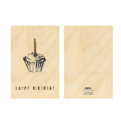 Woodwork Birthday Cupcake Card