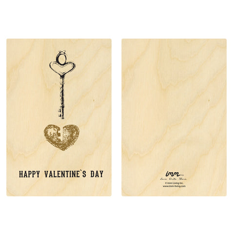 Woodwork Valentine's Day Key Card