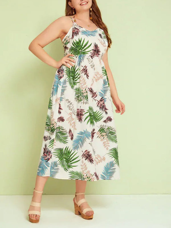 Plus Size LiStrap Skirt Temperament Mature Midi Dresses