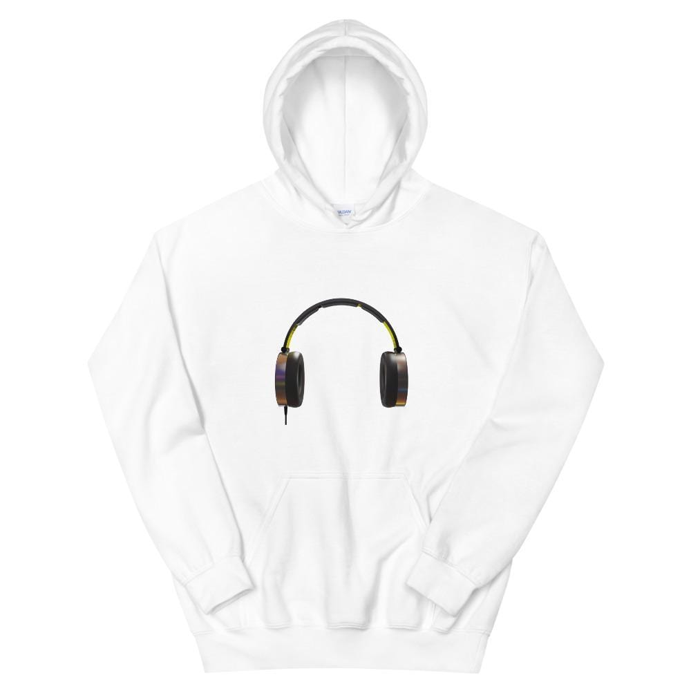 The World of T's Hoodie White / S Headphones Hoodie