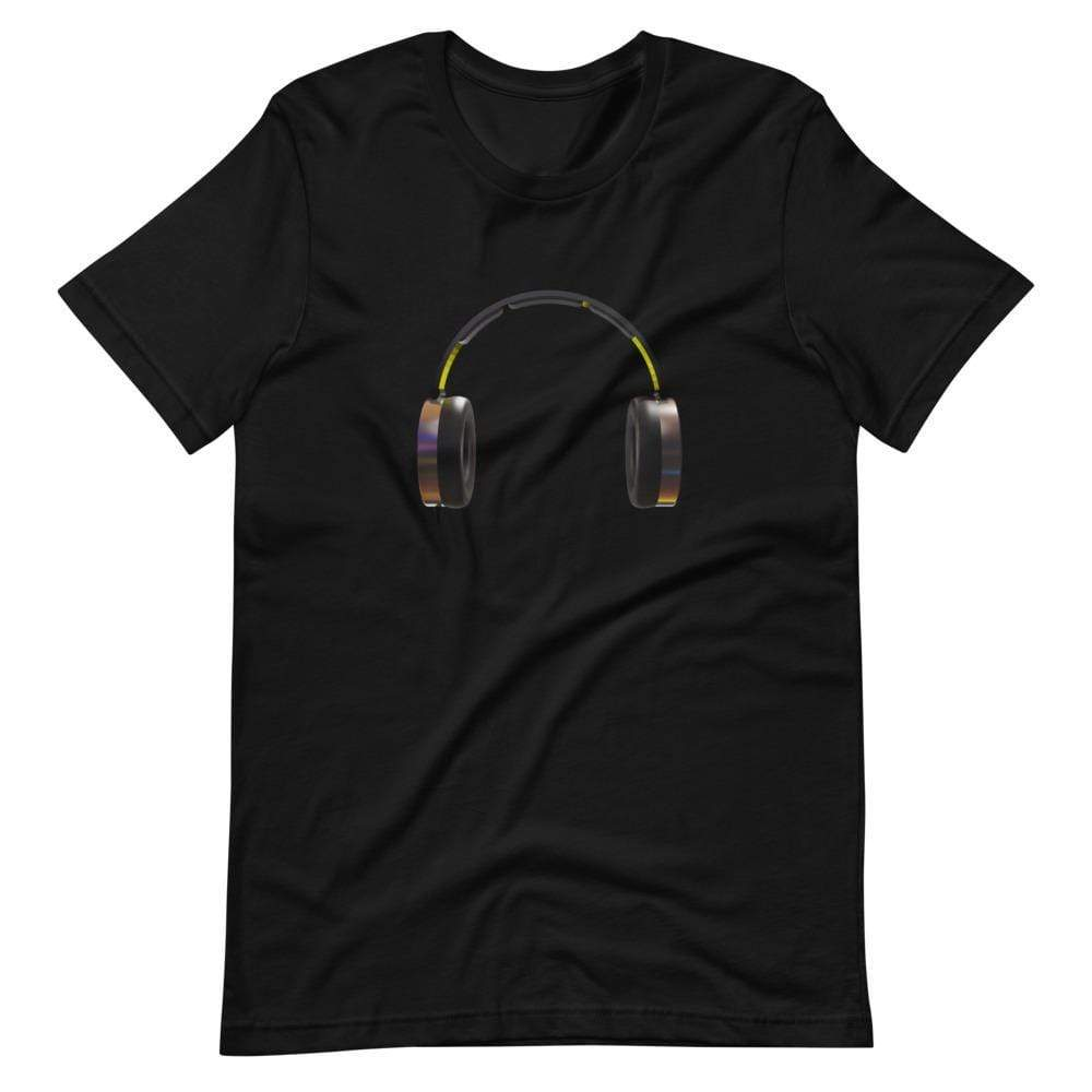 The World of T's T Shirt Black / S Headphones Tee
