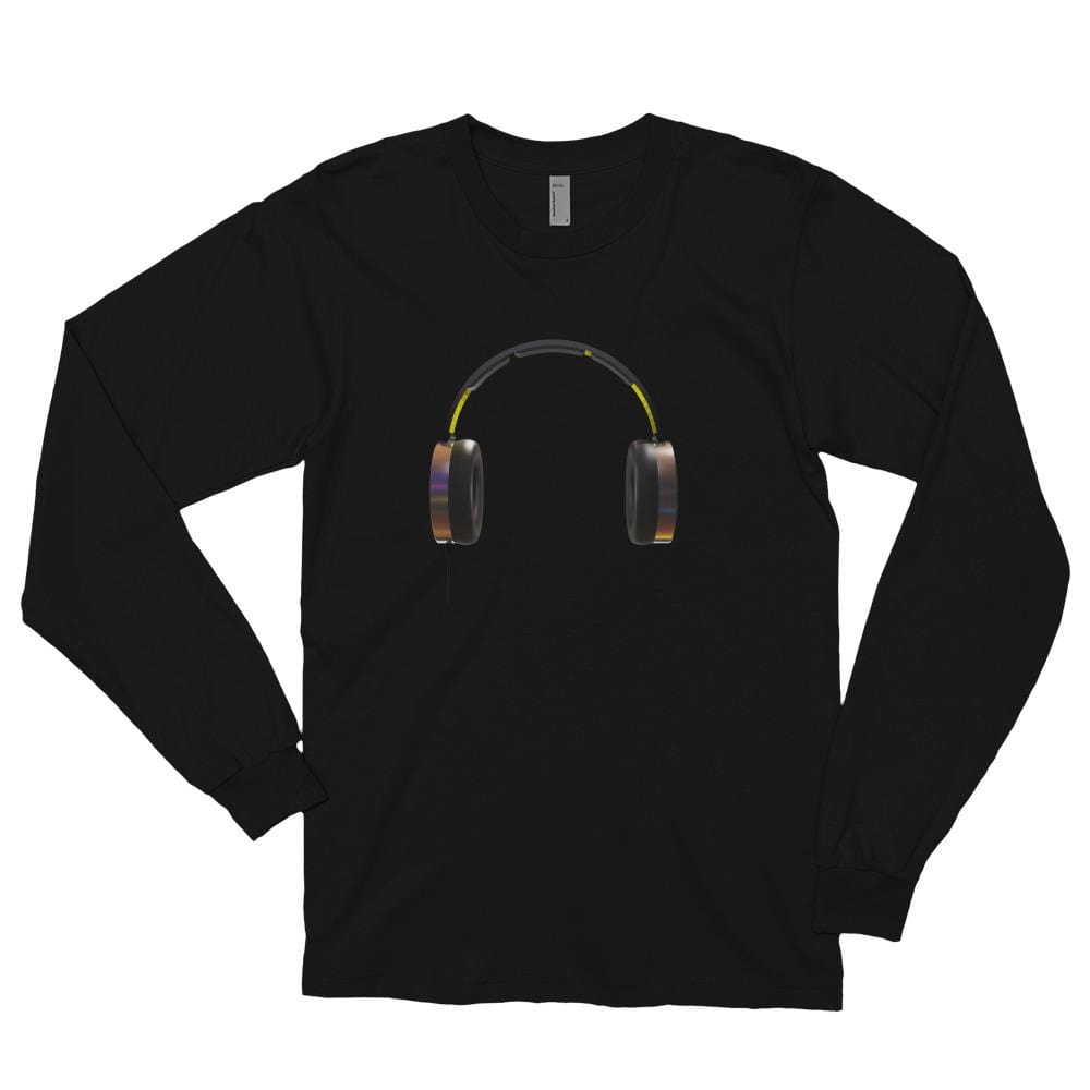 The World of T's Long Sleeve Tee Black / S Women's Headphone Long sleeve t-shirt