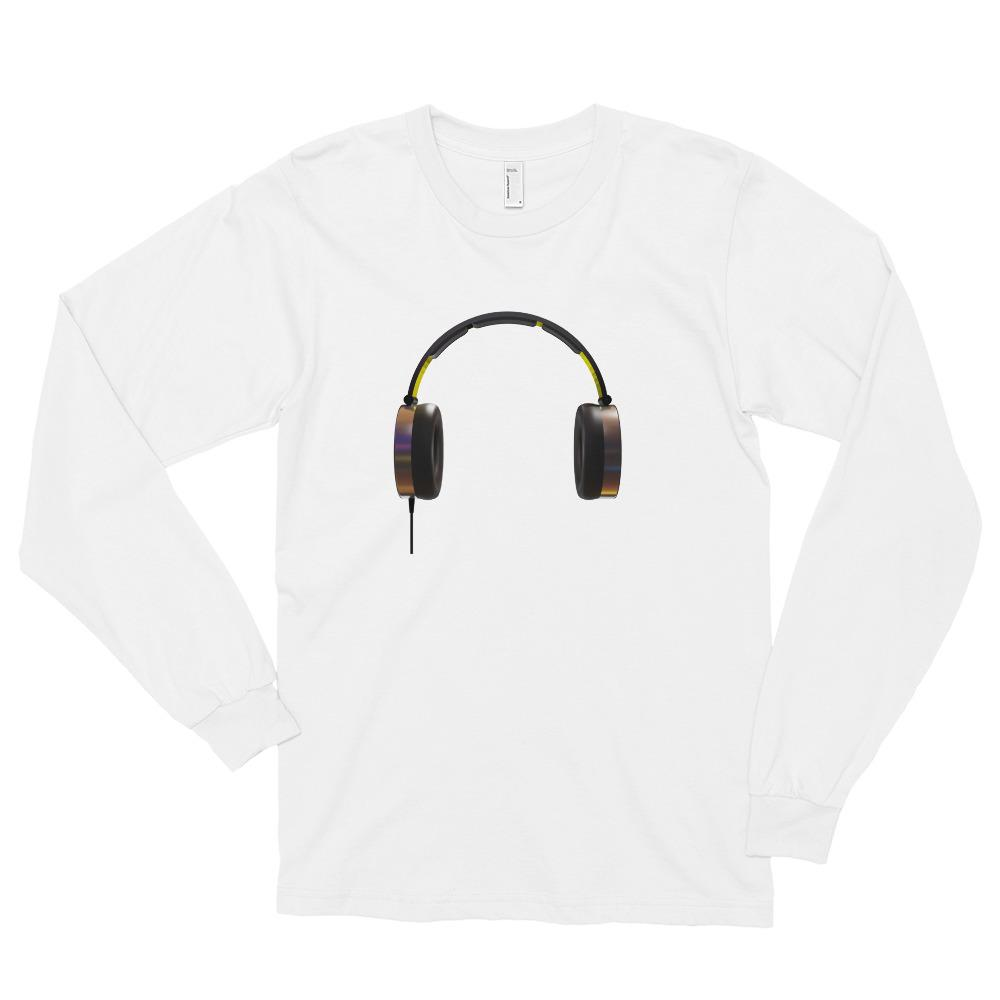 The World of T's Long Sleeve Tee White / S Women's Headphone Long sleeve t-shirt