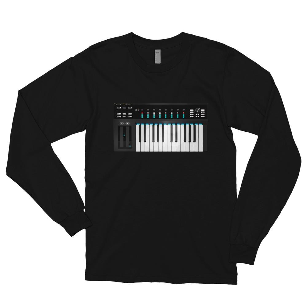 The World of T's Black / S Women's Midi Controller Long sleeve t-shirt
