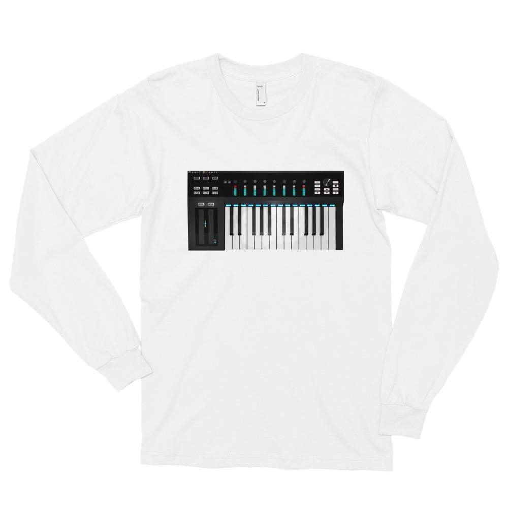 The World of T's White / S Women's Midi Controller Long sleeve t-shirt