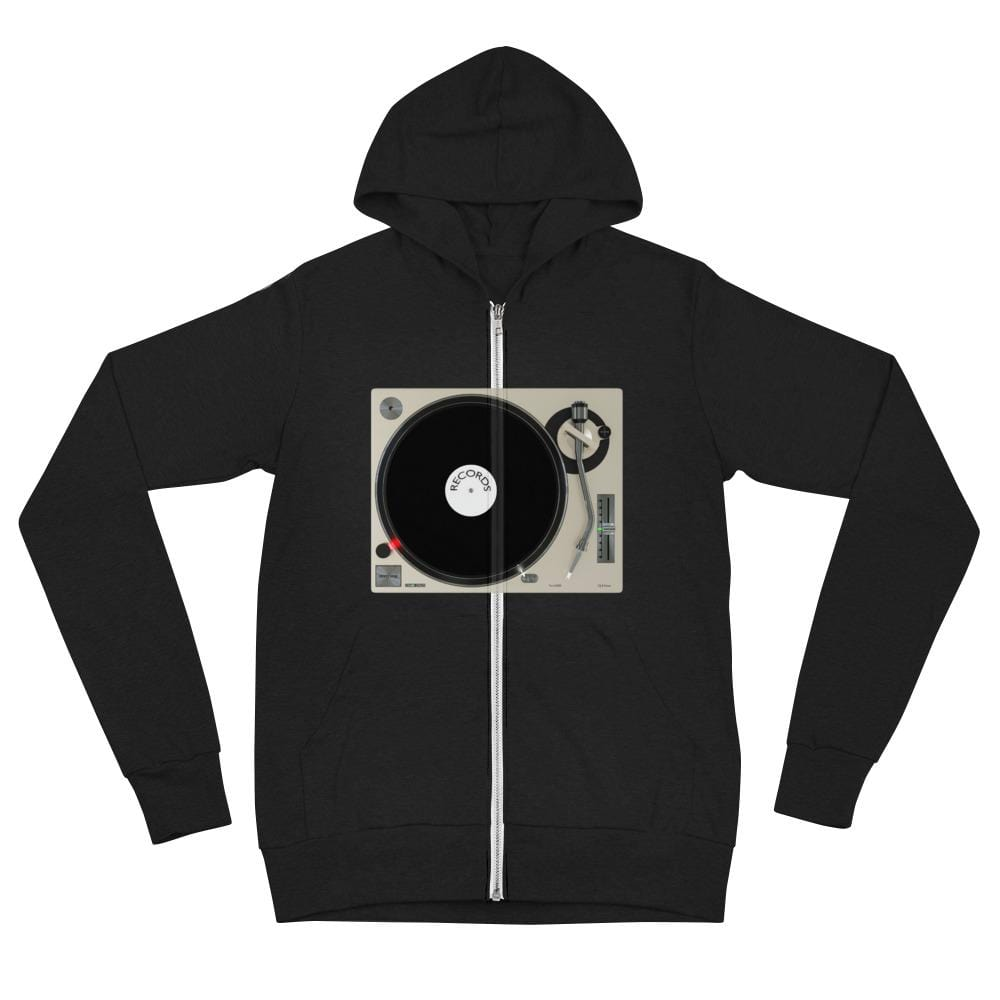 The World of T's Zipper Hoodie Solid Black Triblend / XS Women's Turntable Zip Hoodie