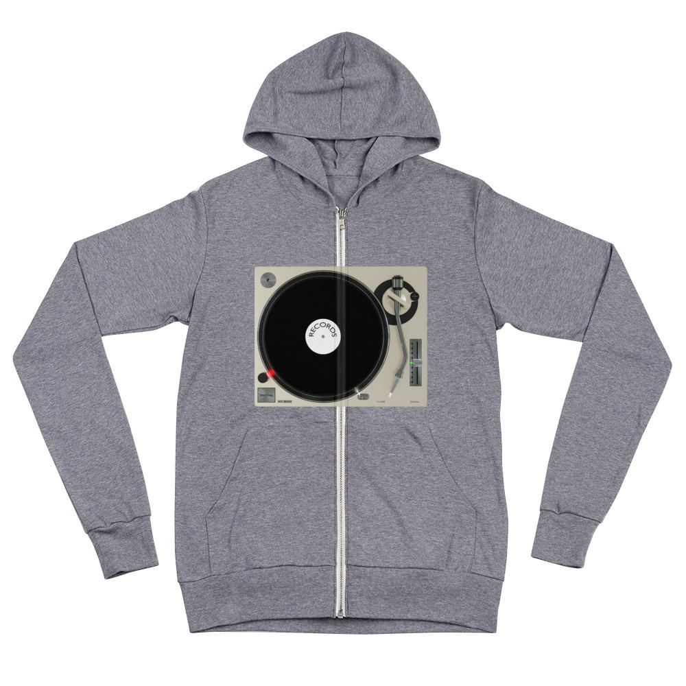 The World of T's Zipper Hoodie Grey Triblend / XS Women's Turntable Zip Hoodie
