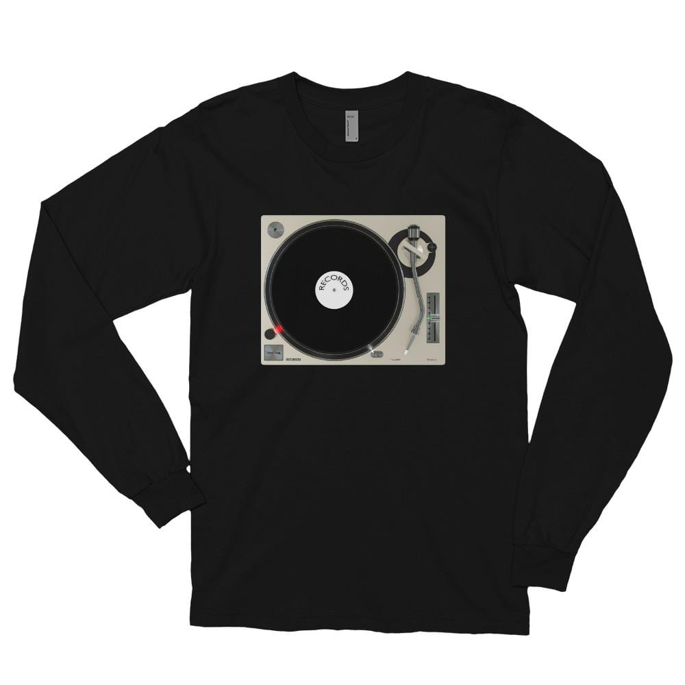 The World of T's Long Sleeve Tee Black / S Women's Turntable Long sleeve t-shirt