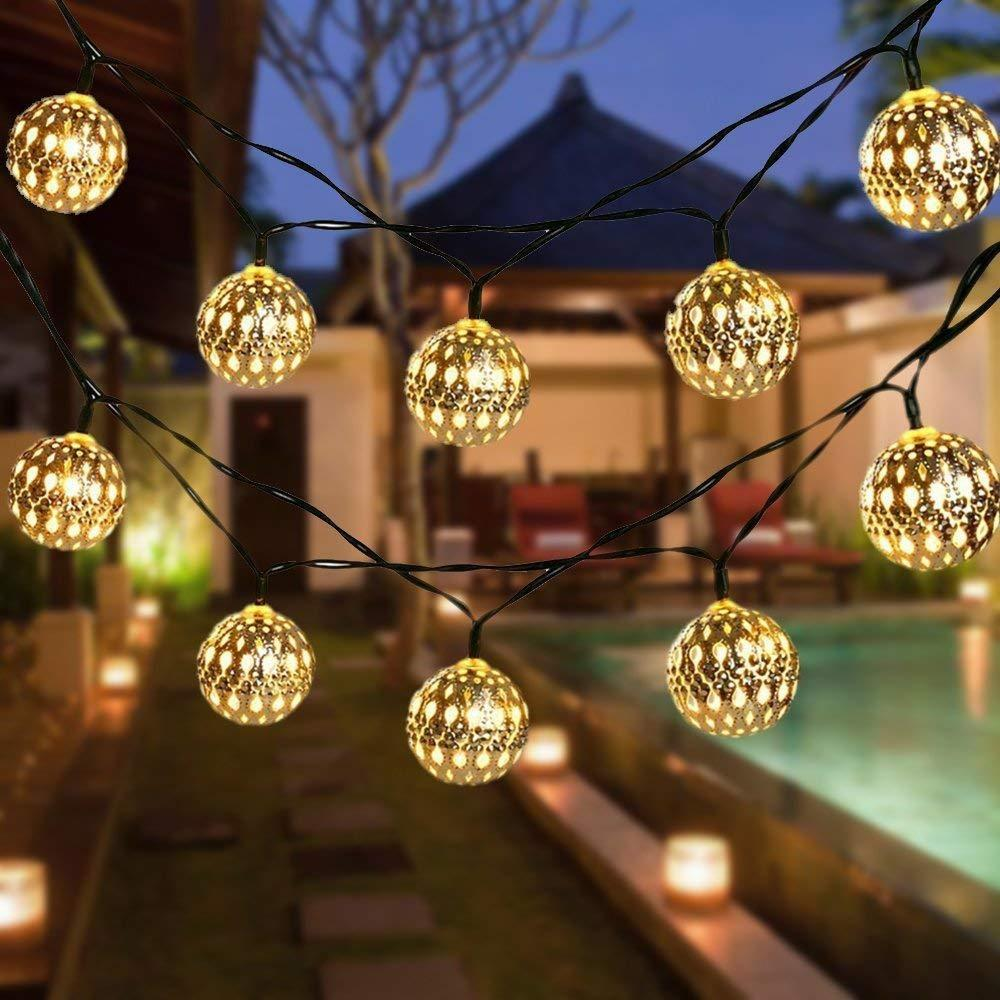 4 Pcs Metallic sphere light (Jhalar)