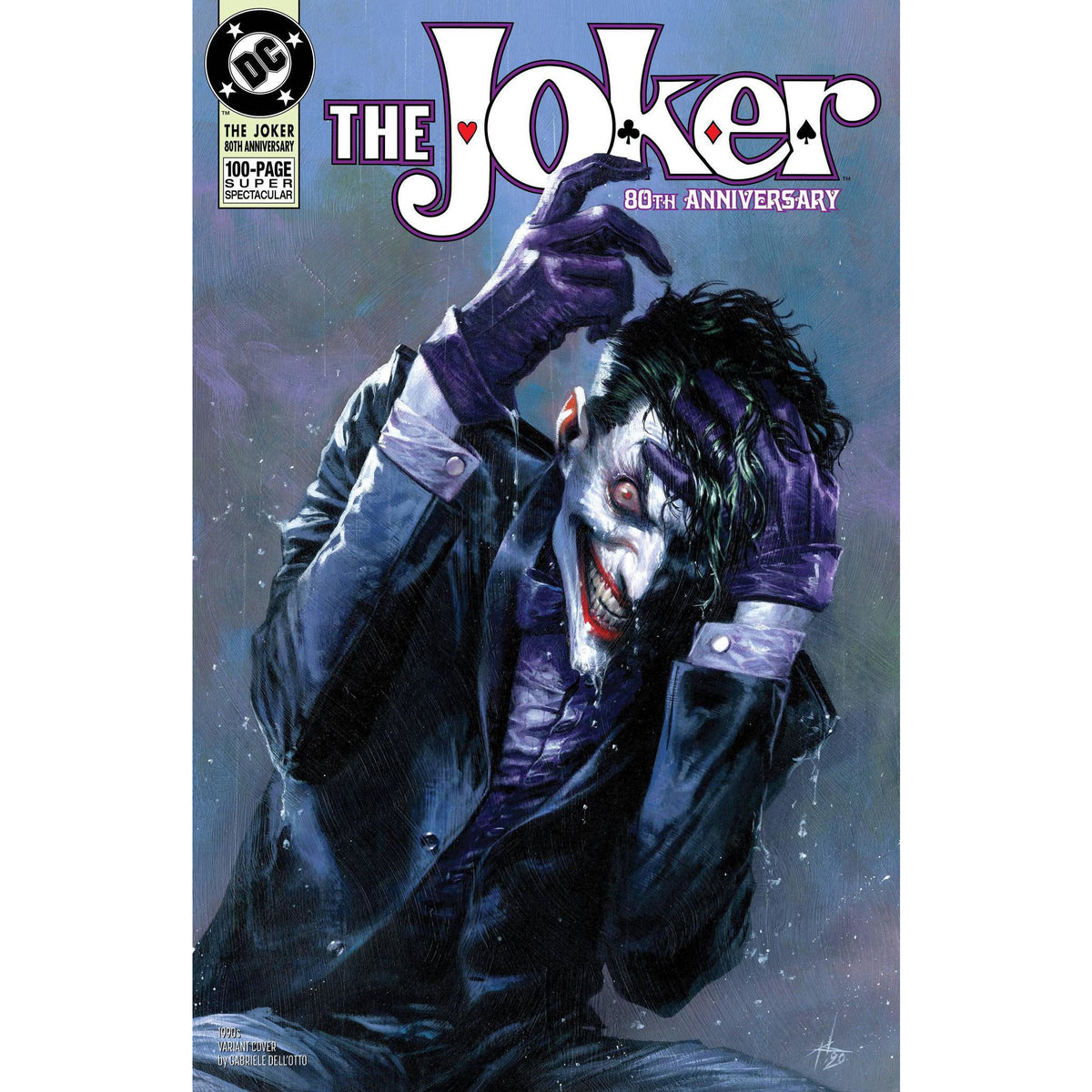 JOKER 80TH ANNIVERSARY 100 PAGE SUPER SPECTACULAR #1 1990s DELLOTTO VARIANT COVER