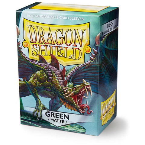 DRAGON SHIELD SLEEVES: GREEN MATTE