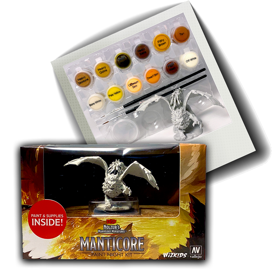 NOLZUR'S MARVELOUS MINIATURES - MANTICORE PAINT NIGHT KIT