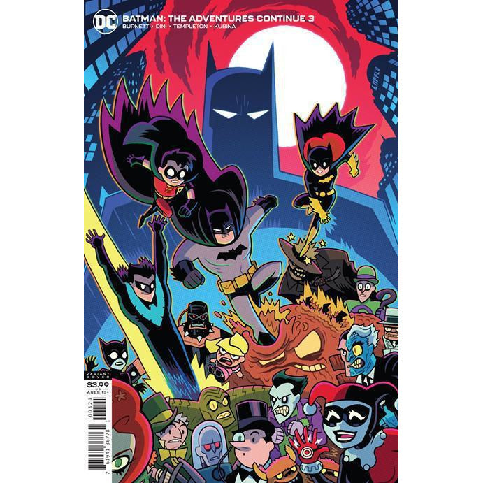 BATMAN THE ADVENTURES CONTINUE #3 (OF 6) DAN HIPP VARIANT COVER