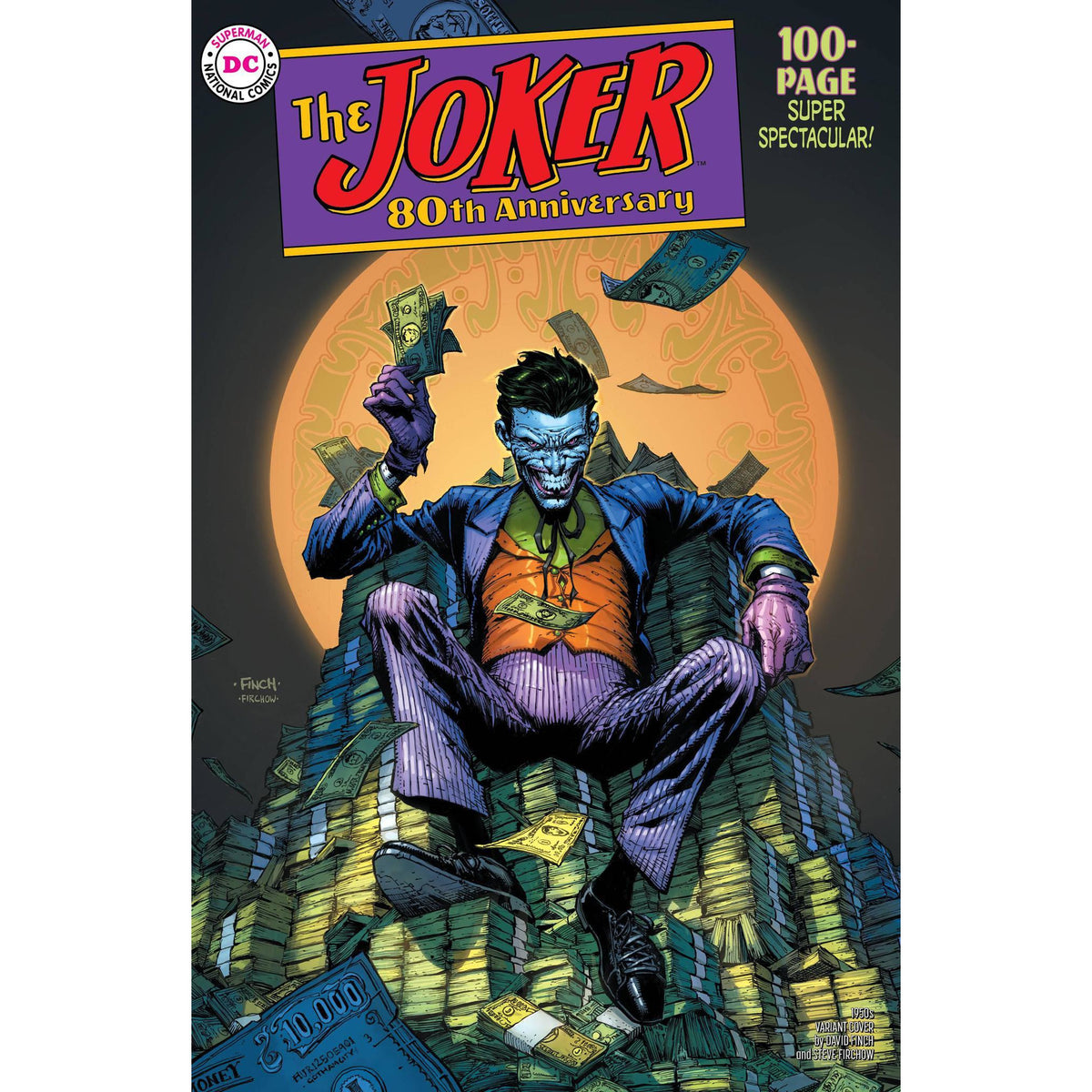 JOKER 80TH ANNIVERSARY 100 PAGE SUPER SPECTACULAR #1 1950s DAVID FINCH VARIANT COVER