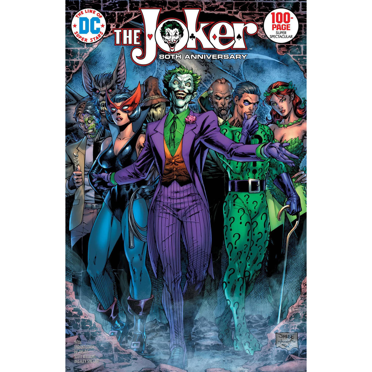 JOKER 80TH ANNIVERSARY 100 PAGE SUPER SPECTACULAR #1 1970s JIM LEE VARIANT COVER