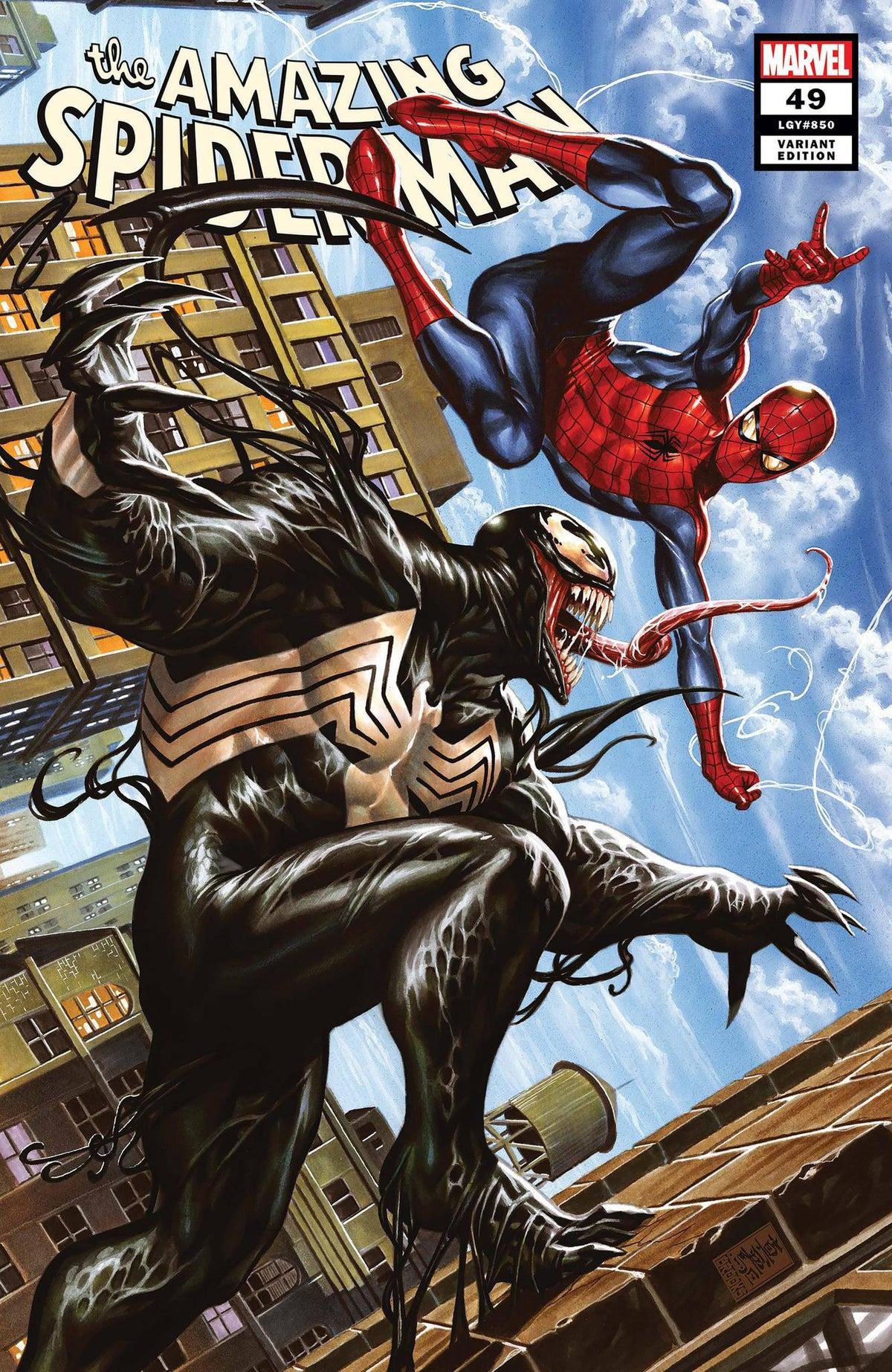 AMAZING SPIDER-MAN #49 BROOKS VARIANT