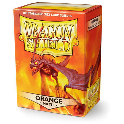 DRAGON SHIELD SLEEVES: ORANGE MATTE
