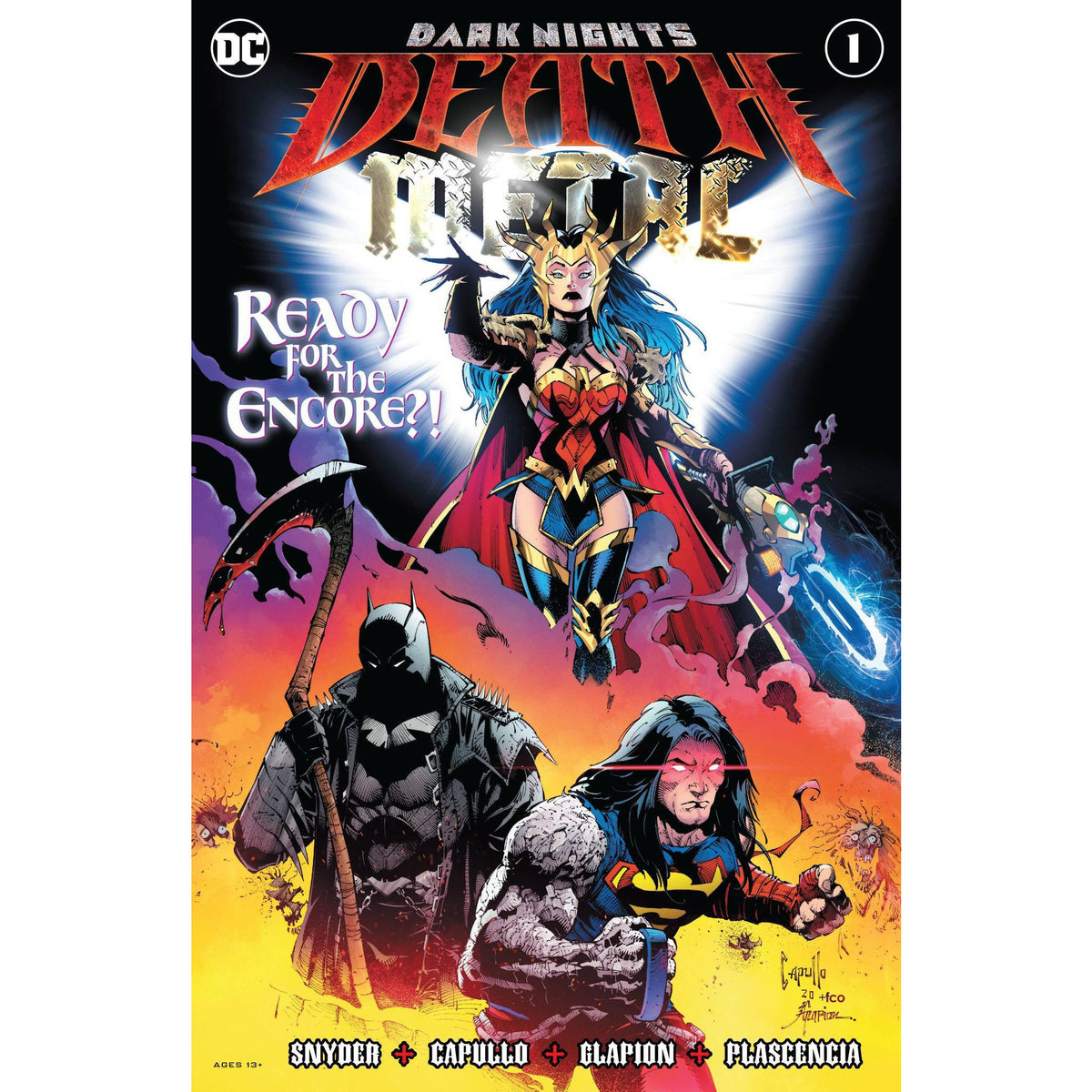 DARK NIGHTS DEATH METAL #1 - 4 COVER SET - CAPULLO FINCH ARTGERM - FREE SHIPPING