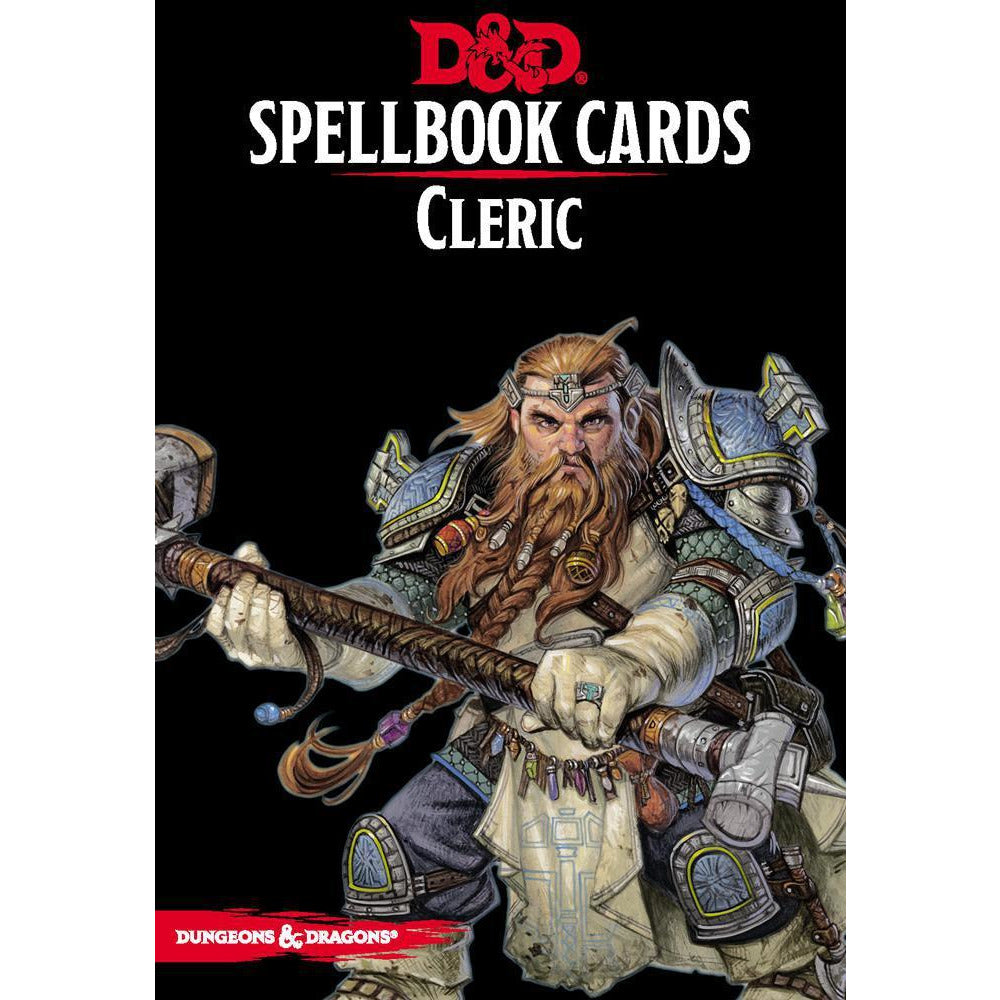 D&D RPG SPELLBOOK CARDS - CLERIC DECK