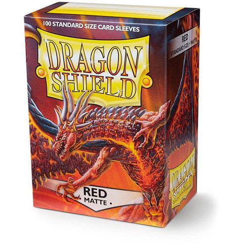 DRAGON SHIELD SLEEVES: RED MATTE