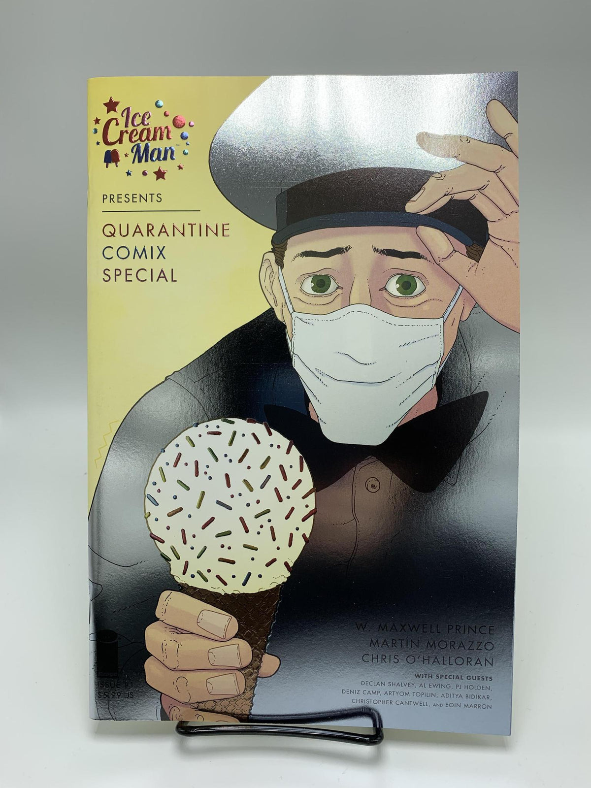 ICE CREAM MAN PRESENTS QUARANTINE COMIX #1 THANK YOU FOIL VARIANT