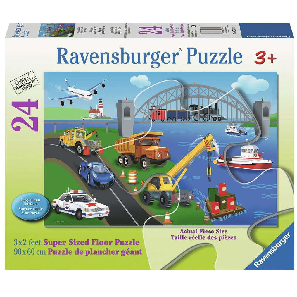 A DAY ON THE JOB 24 PIECE FLOOR PUZZLE