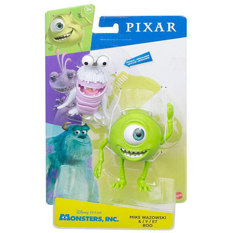 DISNEY PIXAR - MONSTERS, INC - MIKE WAZOWSKI AND BOO ACTION FIGURES
