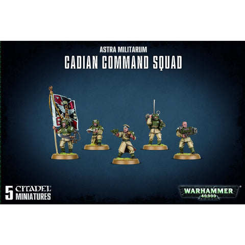 ASTRA MILITARUM CADIAN COMMAND SQUAD - WARHAMMER 40K - GAMES WORKSHOP