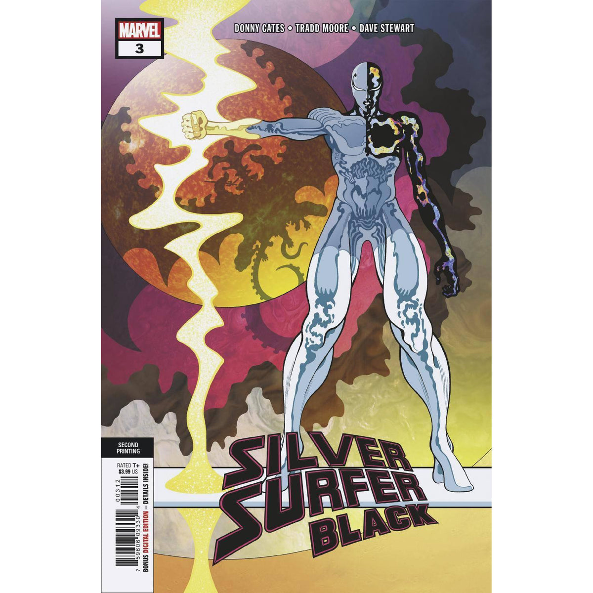 SILVER SURFER BLACK #3 (OF 5) 2ND PRINTING MOORE VARIANT COVER