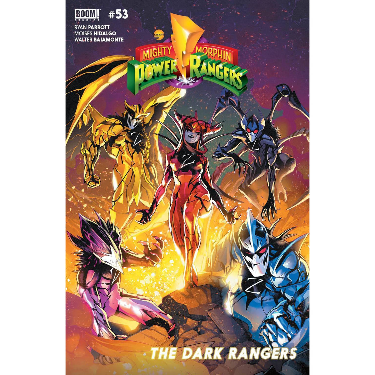 MIGHTY MORPHIN POWER RANGERS #53 COVER A CAMPBELL