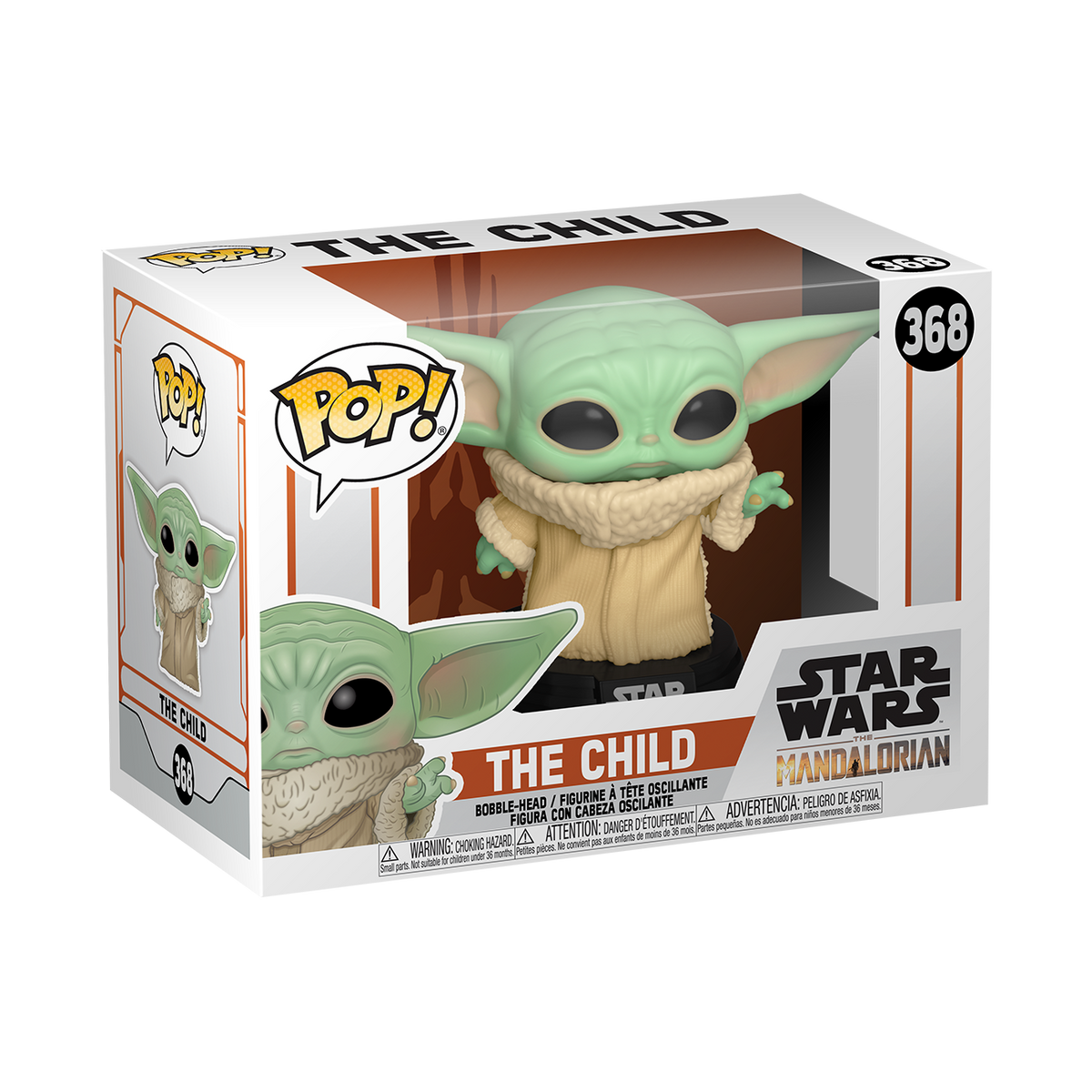 STAR WARS: THE MANDALORIAN THE CHILD POP! VINYL FIGURE - BABY YODA
