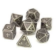 DIE HARD METAL DICE - BATTLEWORN SILVER