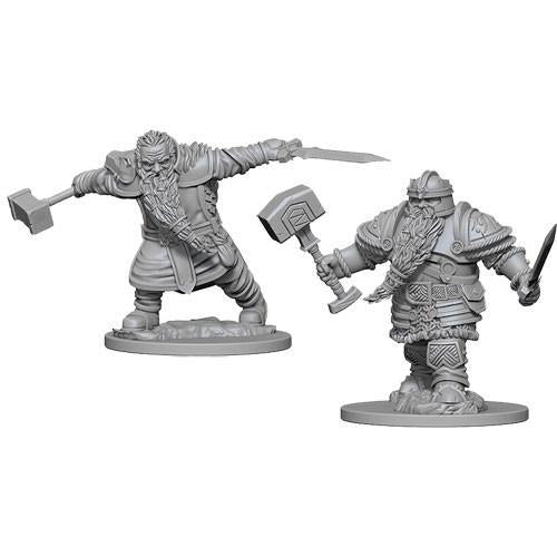 DUNGEONS AND DRAGONS: NOLZUR'S MARVELOUS UNPAINTED MINIATURES - MALE DWARF FIGHTER