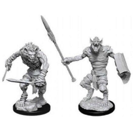 DUNGEONS & DRAGONS NOLZUR'S MARVELOUS UNPAINTED MINIATURES WAVE 12: GNOLL & GNOLL FLESH GNAWER