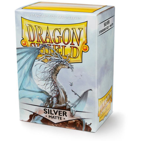 DRAGON SHIELD SLEEVES: SILVER MATTE