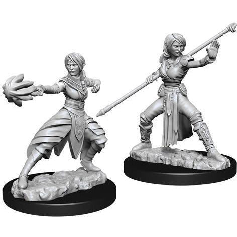 DUNGEONS & DRAGONS NOLZUR'S MARVELOUS UNPAINTED MINIATURES WAVE 10: FEMALE HALF-ELF MONK