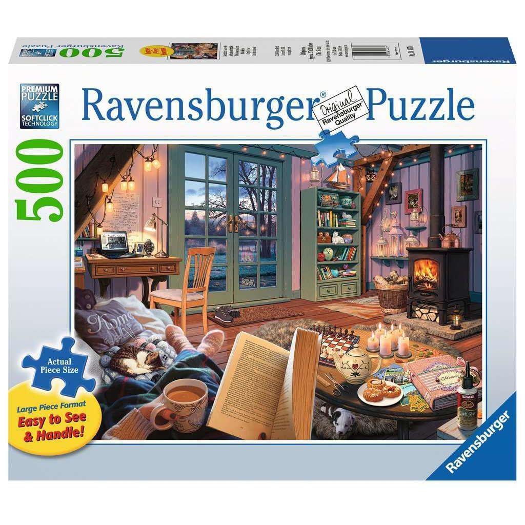 COZY RETREAT 500 PIECE PUZZLE: LARGE PIECE FORMAT