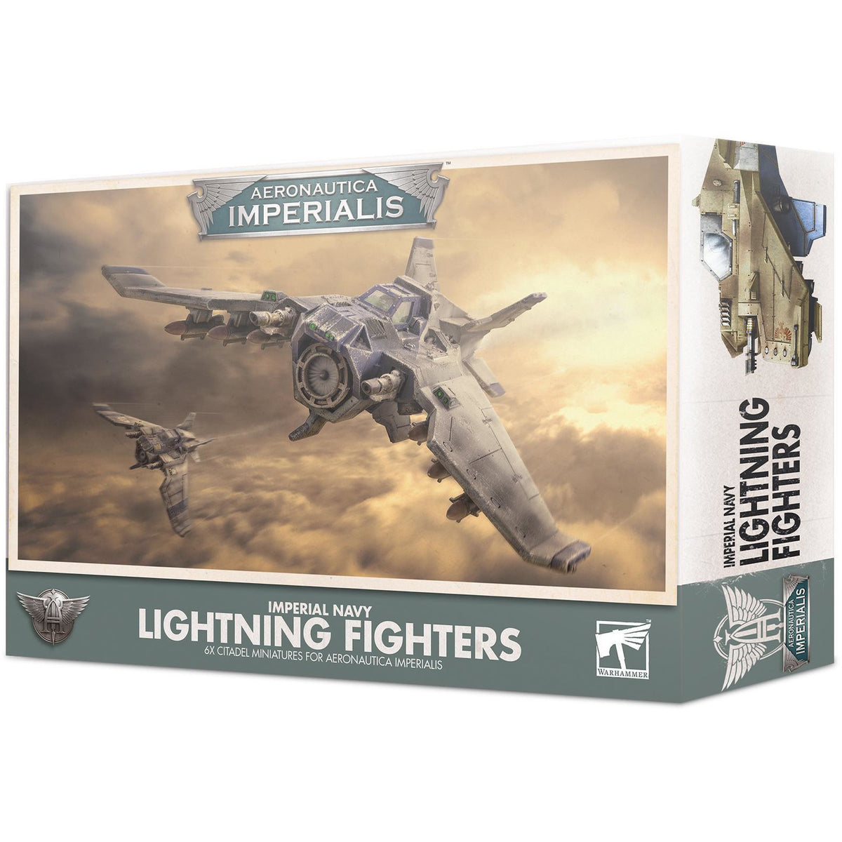 AERONAUTICA IMPERIALIS - IMPERIAL NAVY LIGHTNING FIGHTERS - WARHAMMER 40K