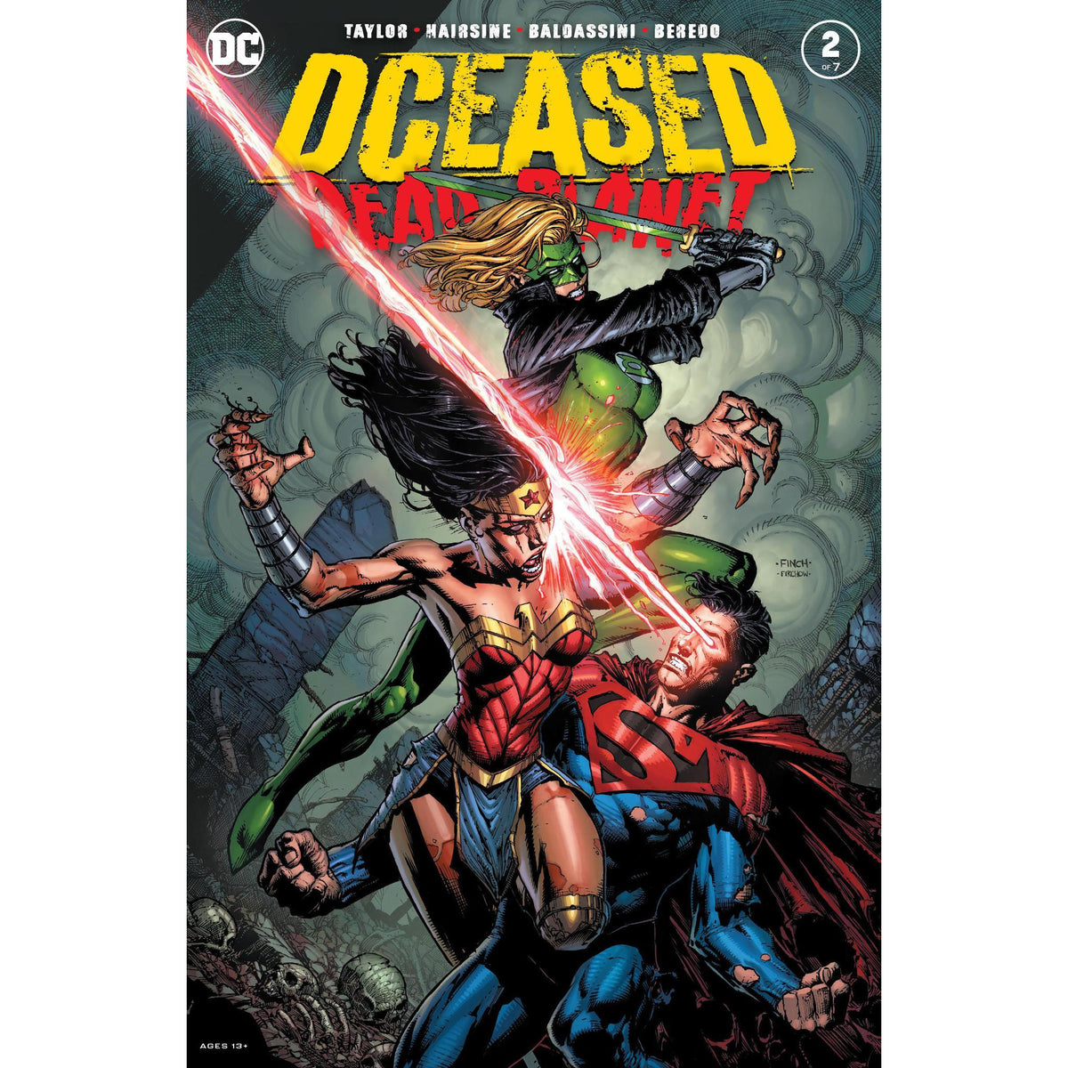 DCEASED DEAD PLANET #2 (OF 6) FINCH MAIN COVER