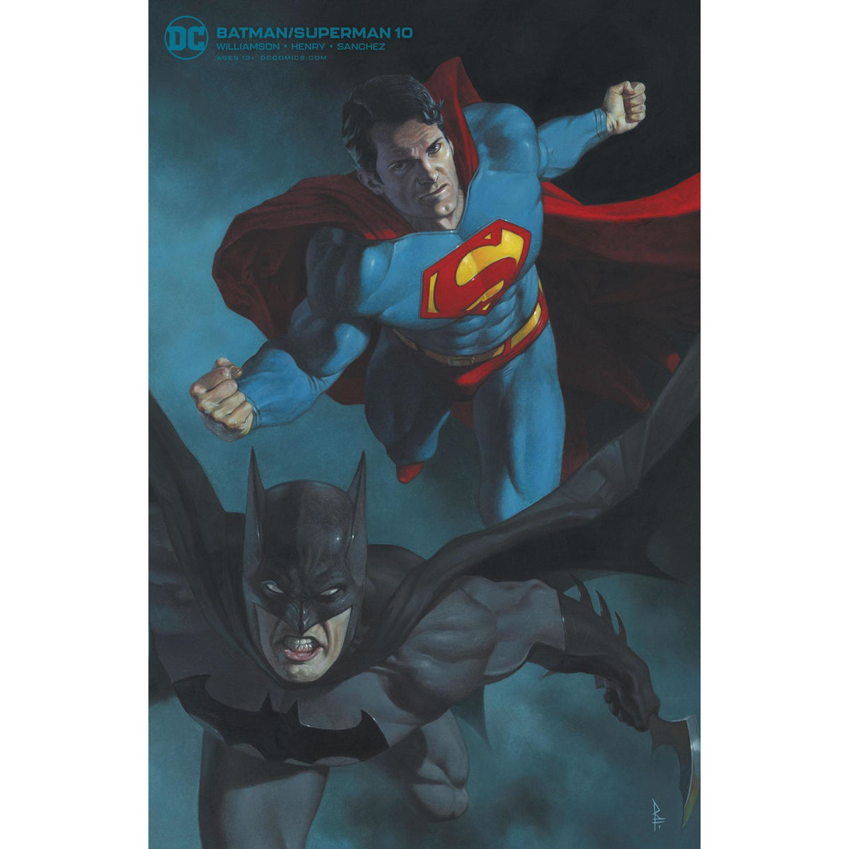BATMAN SUPERMAN #10 CARD STOCK FEDERICI VARIANT COVER