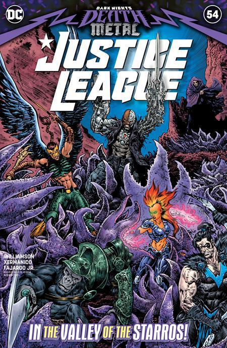 JUSTICE LEAGUE #54 COVER A LIAM SHARP (DARK NIGHTS DEATH METAL)