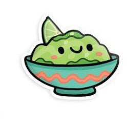 SQUISHABLE STICKER - GUACAMOLE
