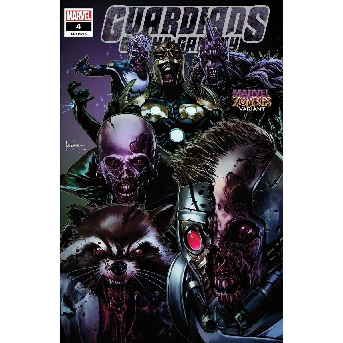GUARDIANS OF THE GALAXY #4 - SUAYAN MARVEL ZOMBIES VARIANT COVER