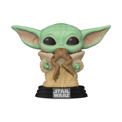 STAR WARS FUNKO POP - THE MANDALORIAN - THE CHILD WITH FROG VINYL FIGURE