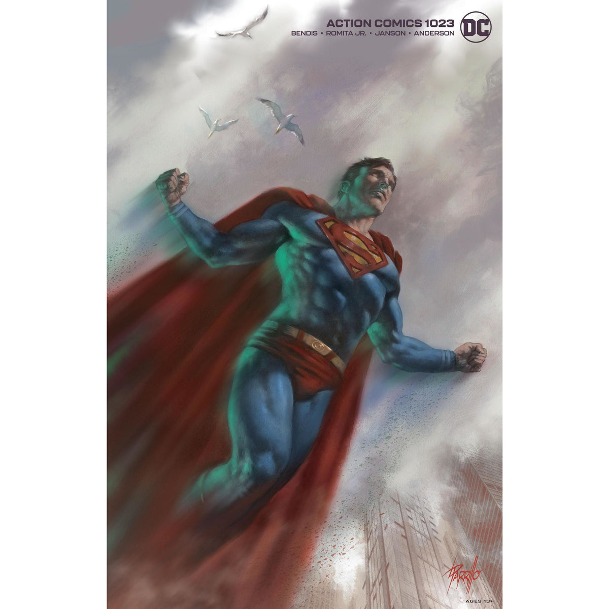 ACTION COMICS #1023 - PARRILLO VARIANT COVER B
