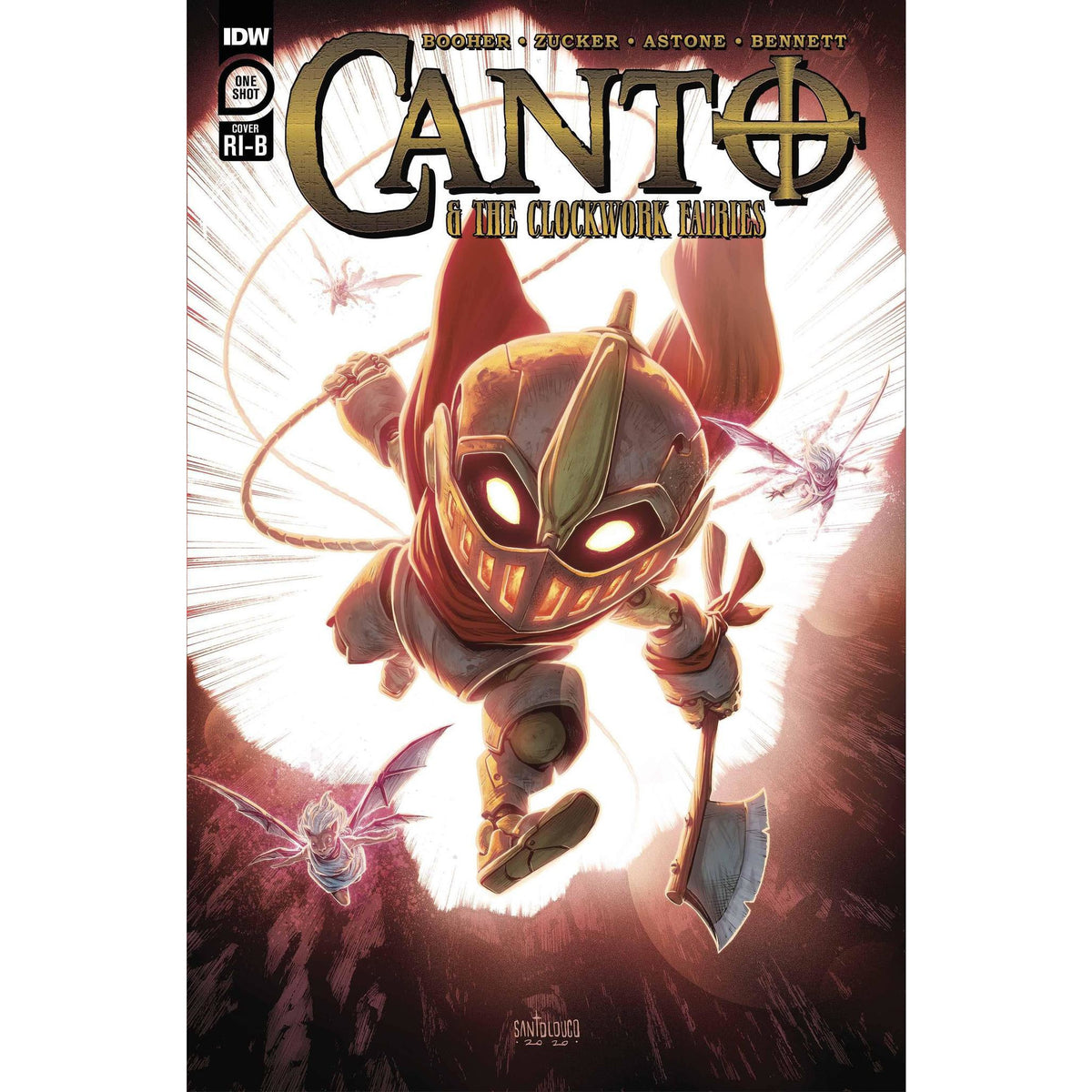 CANTO & CLOCKWORK FAIRIES ONE SHOT - 1:25 SANTOLOUCO VARIANT COVER
