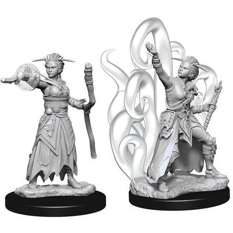 DUNGEONS & DRAGONS NOLZUR'S MARVELOUS UNPAINTED MINIATURES WAVE 10: FEMALE HUMAN WARLOCK