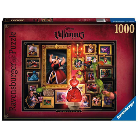 DISNEY VILLAINOUS QUEEN OF HEARTS 1000 PIECE PUZZLE