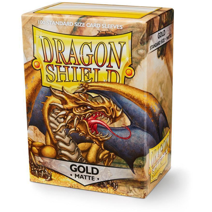 DRAGON SHIELD SLEEVES: GOLD MATTE